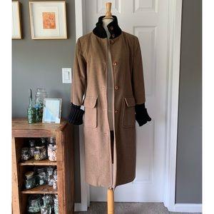 Kookai wool & sweater trim coat 3079